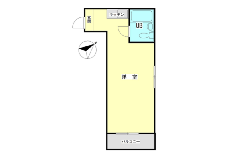 1R Apartment to Buy in Meguro-ku Floorplan