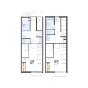 1K Apartment in Akama - Munakata-shi Floorplan