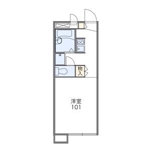 橫濱市南區別所-1K公寓 房間格局
