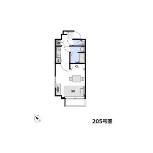 1K Mansion in Tsukuda - Chuo-ku Floorplan