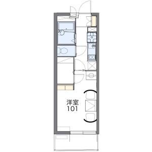 1K Mansion in Onaricho - Saitama-shi Omiya-ku Floorplan
