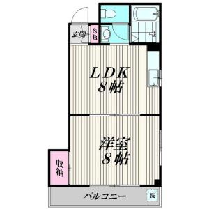1LDK Mansion in Tamagawa - Ota-ku Floorplan