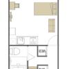 在台东区内租赁1K 公寓大厦 的 楼层布局