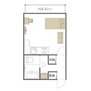 台東區浅草-1K公寓大廈 房間格局