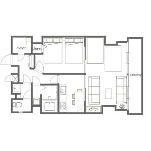 2DK Mansion in Kuramae - Taito-ku Floorplan