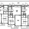 在东村山市内租赁2DK 公寓大厦 的 楼层布局
