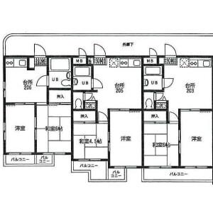 东村山市本町-2DK公寓大厦 楼层布局