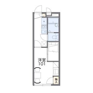 1K Apartment in Tanaka kitaharunacho - Kyoto-shi Sakyo-ku Floorplan