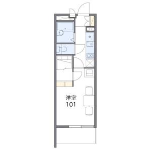 1K Mansion in Takahamashimmachi - Yokkaichi-shi Floorplan