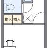在小金井市內租賃1K 公寓 的房產 房間格局