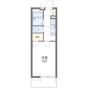 1K Mansion in Daiko - Nagoya-shi Higashi-ku Floorplan