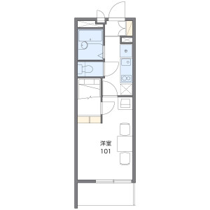 1K Apartment in Katase - Fujisawa-shi Floorplan