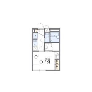 1K Apartment in Sako8-bancho - Tokushima-shi Floorplan