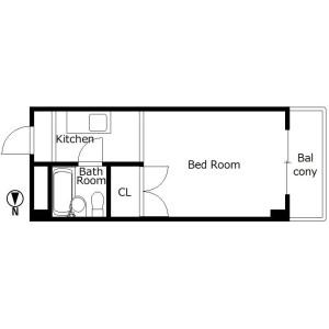 1R Mansion in Tanaka monzencho - Kyoto-shi Sakyo-ku Floorplan