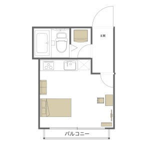 1R Mansion in Asakusa - Taito-ku Floorplan