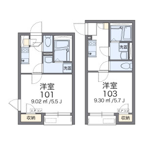 1K Apartment in Higashitamagawa - Setagaya-ku Floorplan