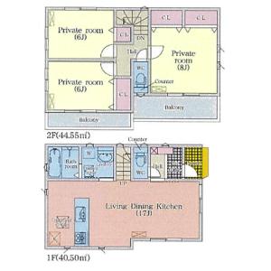 3LDK {building type} in Noritakeshimmachi - Nagoya-shi Nishi-ku Floorplan