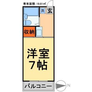 1K Apartment in Mabashi - Matsudo-shi Floorplan