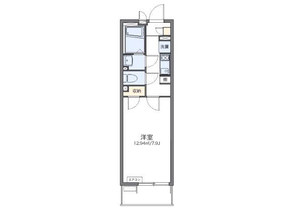 1K Apartment to Rent in Kodaira-shi Floorplan