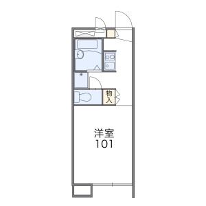 1K 아파트 in Meguritacho - Higashimurayama-shi Floorplan