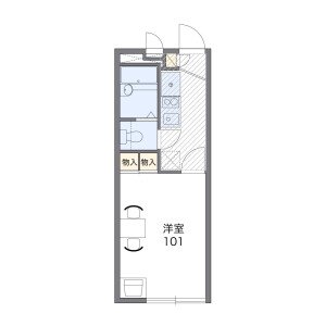 1K Apartment in Shimmori - Osaka-shi Asahi-ku Floorplan