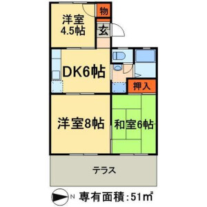 3DK Apartment in Minaminagareyama - Nagareyama-shi Floorplan