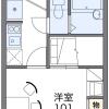 在西宮市內租賃1K 公寓 的房產 房間格局