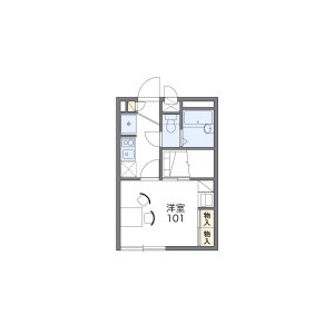 1K Apartment in Oyacho - Nishinomiya-shi Floorplan