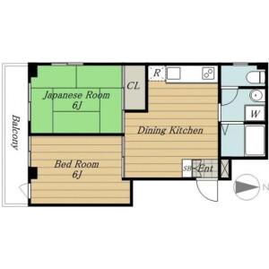 2DK Mansion in Kiyosumi - Koto-ku Floorplan