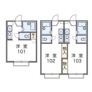 1K Apartment in Nishitsutsujigaoka - Chofu-shi Floorplan