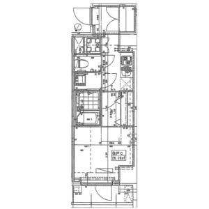 1K Mansion in Shibaura(1-chome) - Minato-ku Floorplan