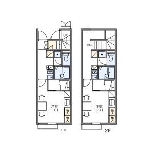1K Apartment in Uedake - Kodama-gun Kamikawa-machi Floorplan