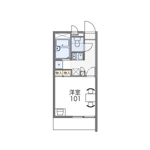 1K Mansion in Hannancho - Osaka-shi Abeno-ku Floorplan