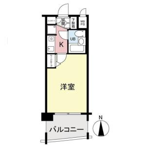 1K {building type} in Takaida - Higashiosaka-shi Floorplan