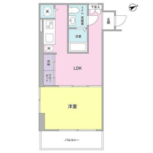 1LDK Mansion in Ebisuminami - Shibuya-ku Floorplan
