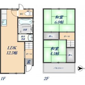 2LDK House in Yokoshojicho - Higashiosaka-shi Floorplan