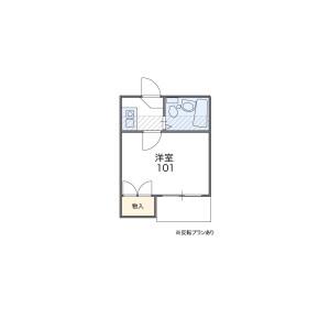 1K Apartment in Nakano - Nakano-ku Floorplan