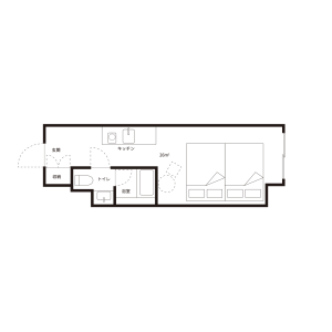 1K Mansion in Minamisemba - Osaka-shi Chuo-ku Floorplan
