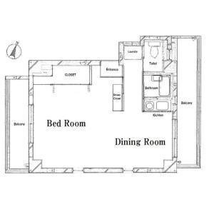 1R Mansion in Kiba - Koto-ku Floorplan