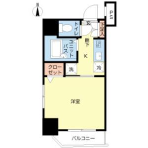 江東區新大橋-1K公寓大廈 房間格局