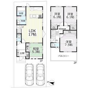 4LDK {building type} in Aioicho - Kyoto-shi Kamigyo-ku Floorplan
