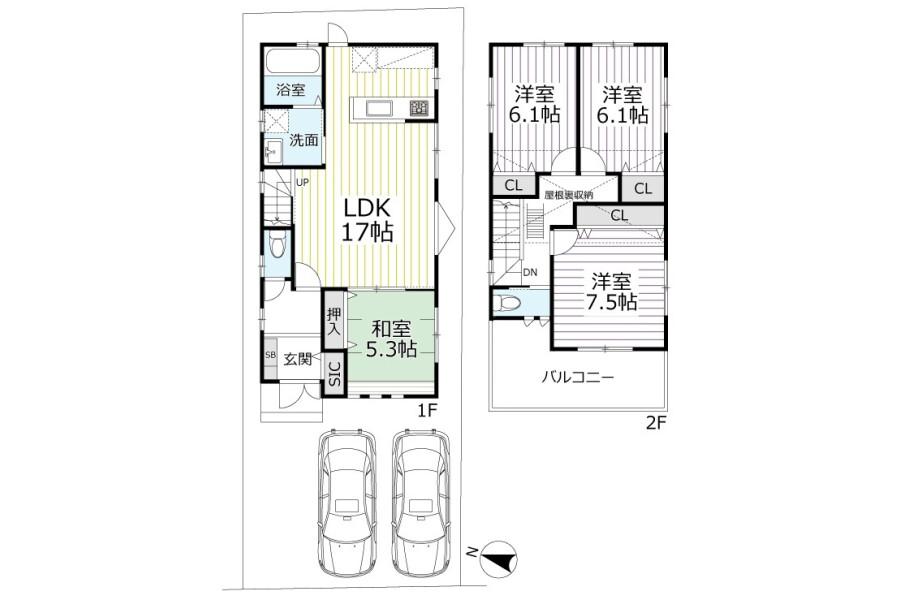 4LDK House to Buy in Kyoto-shi Kamigyo-ku Floorplan