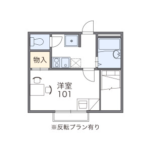 1K Apartment in Nishiawaji - Osaka-shi Higashiyodogawa-ku Floorplan