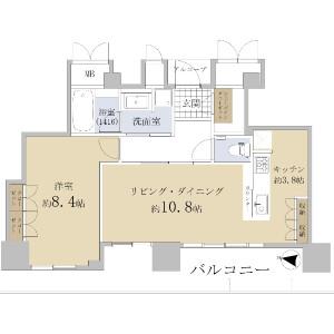 1LDK {building type} in Toyosaki - Osaka-shi Kita-ku Floorplan