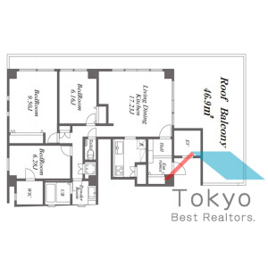 3LDK Mansion in Hommachi - Shibuya-ku Floorplan