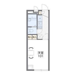 1K Apartment in Sakuranocho - Toyonaka-shi Floorplan