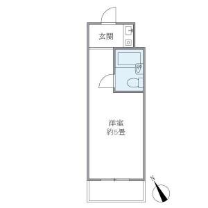 新宿區新宿-1R公寓大廈 房間格局