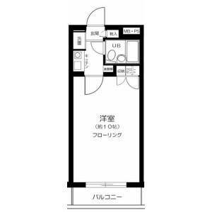 新宿區上落合-1K公寓大廈 房間格局