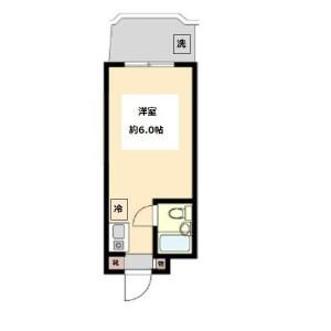 1R Mansion in Kamikitazawa - Setagaya-ku Floorplan