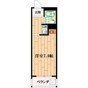 1R Mansion in Miyanosaka - Hirakata-shi Floorplan